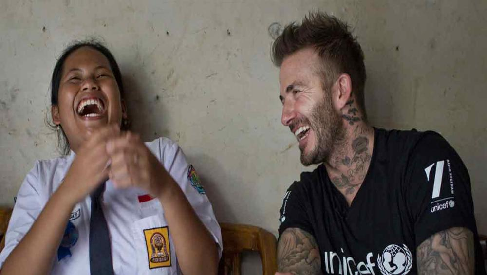 UNICEF envoy David Beckham sets sights on new goal: ending bullying in Indonesia's schools