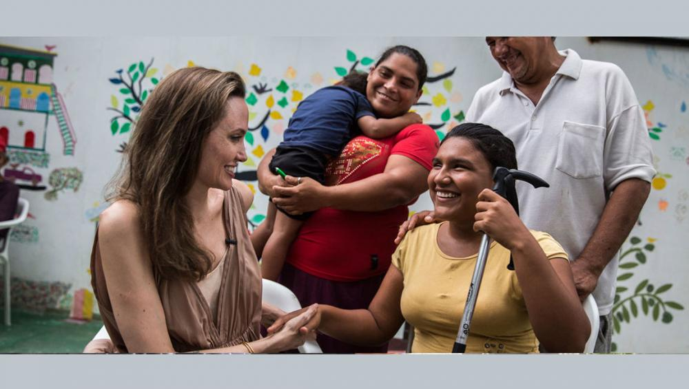 Amid Venezuela exodus, UN refugee envoy Angelina Jolie visits camps on Colombian border, appeals for humanity, more support