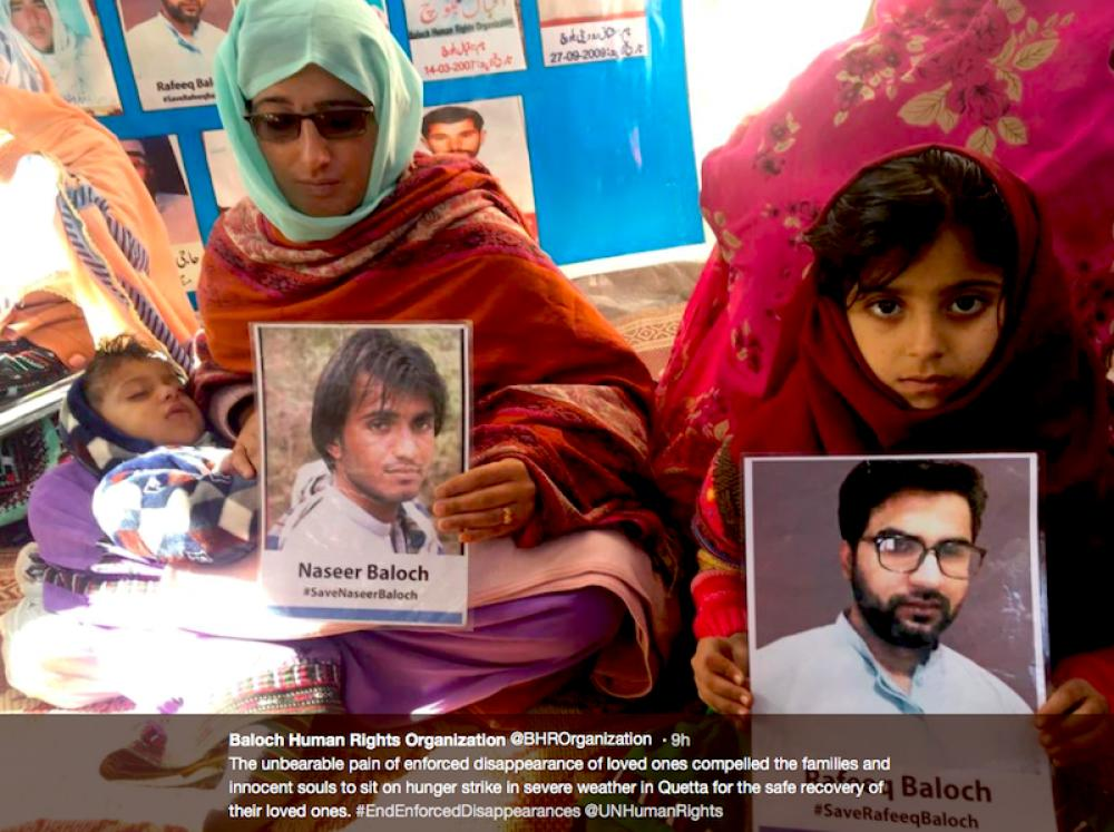 Protests spread as enforced disappearances rise in Pakistan's restive Balochistan