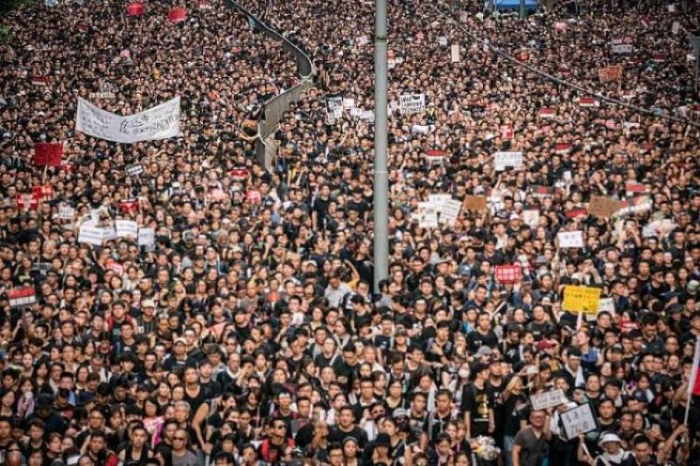 Thousands join largest pro-democracy rally in Hong Kong