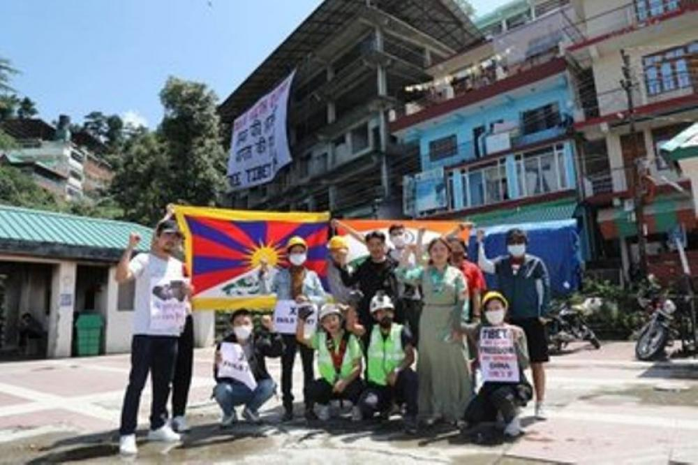 CCP's founding anniversary:  Students for Free Tibet demonstrate in Dharamshala