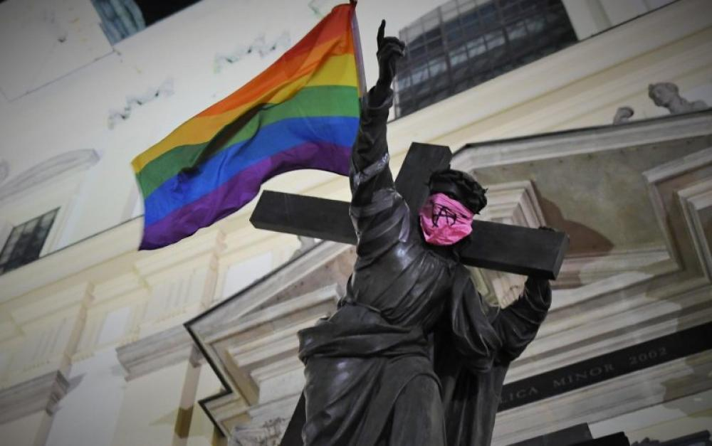 Poland arrests three LGBTQ activists for desecrating statues