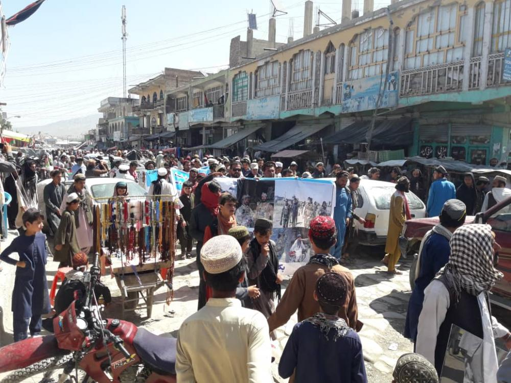 Pashtuns from Afghanistan protest against Pakistan and Punjabi Taliban globally