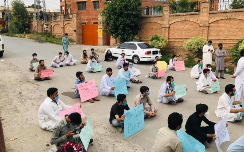 Police brutality: People stage protest in Peshawar