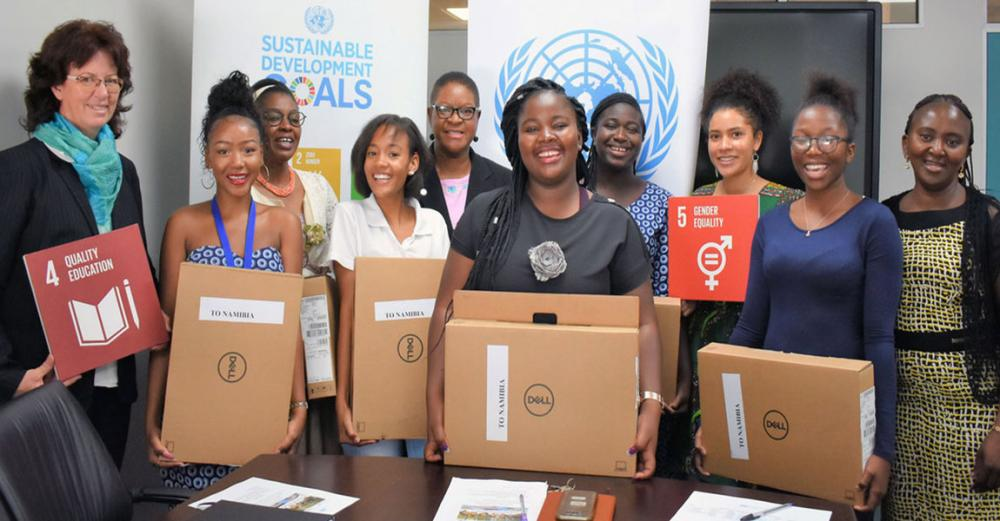 Coding in Namibia: UN supports young women's computing career dreams