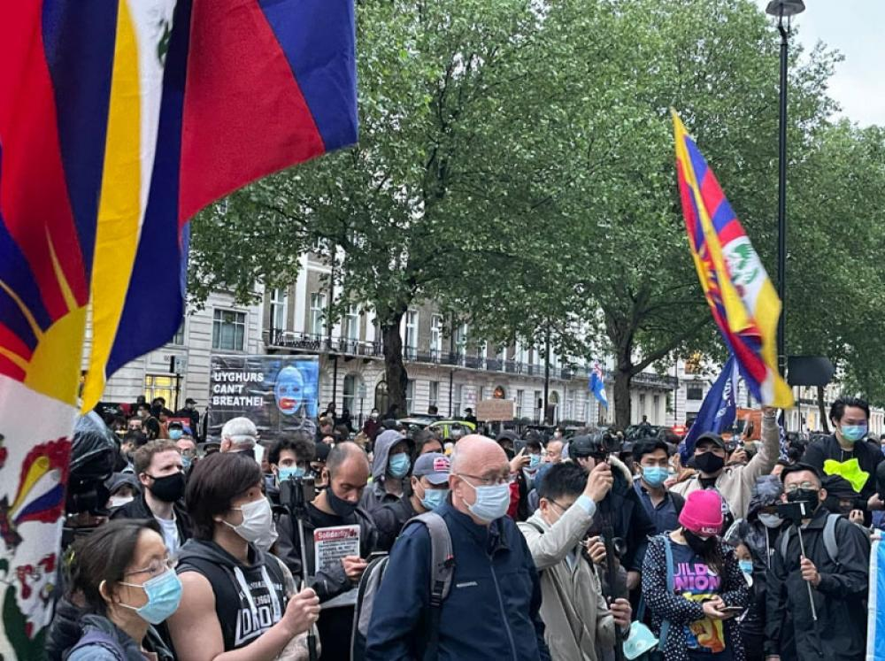 Remembering Tiananmen: Activists organise vigil outside Chinese Embassy in London