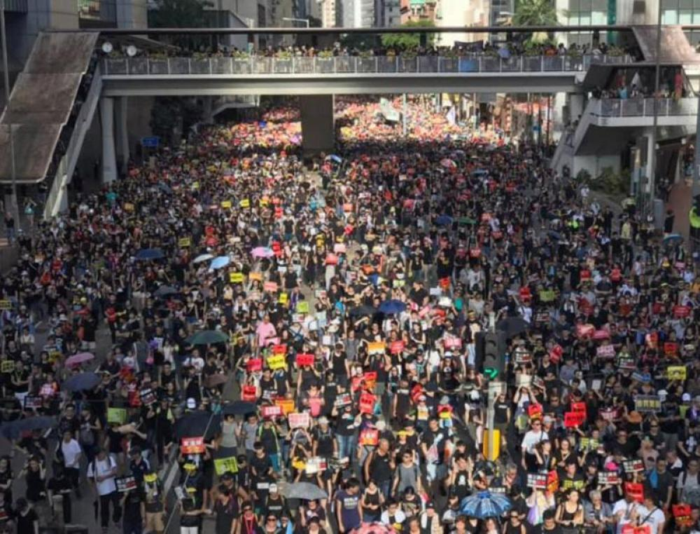 Hong Kong court jails 7 activists over last year's 'illegal' protest