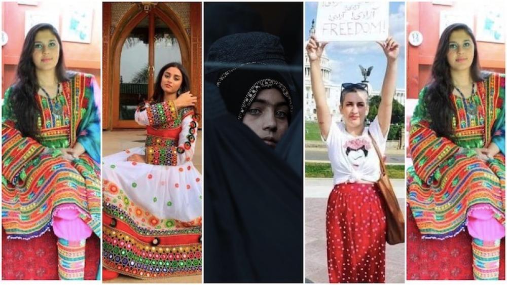 Afghanistan women abroad wear colourful dress to deride Taliban diktat