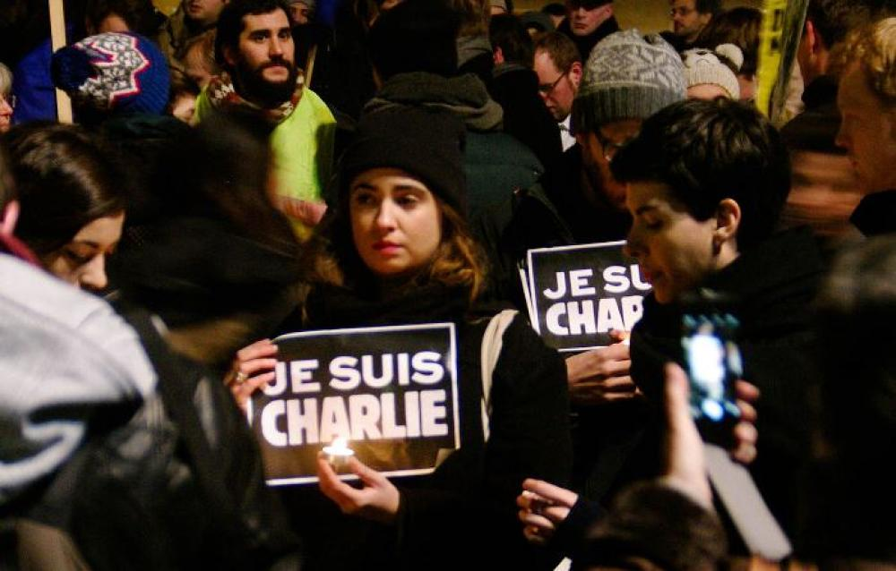 Berlin rally in support of the victims of the 2015 Charlie Hebdo shooting, Image by Dirk Ingo Franke / Wikimedia Commons