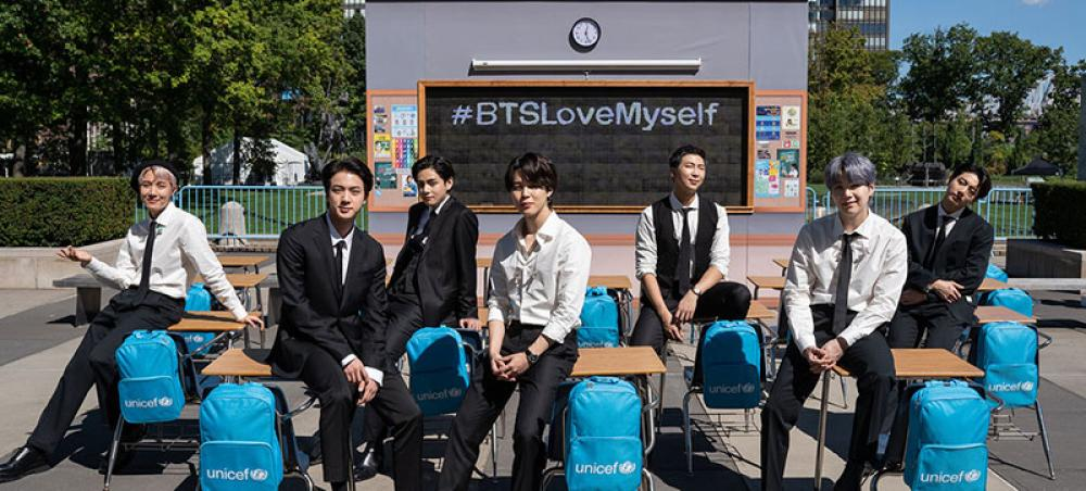 BTS and UNICEF celebrate 4 years of the