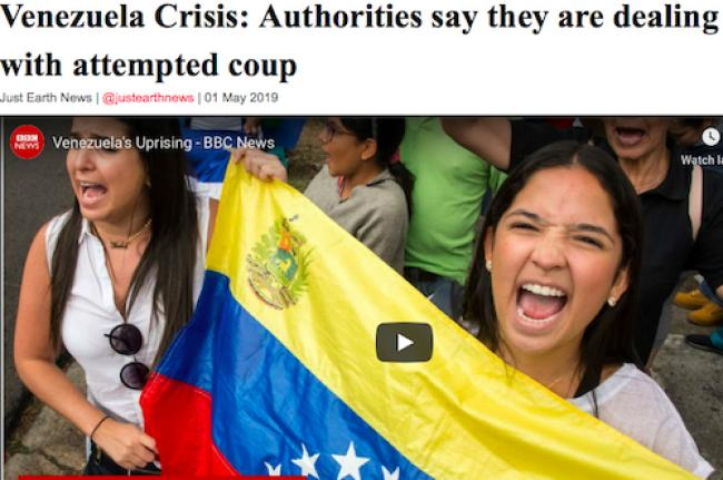 Venezuela Crisis: Authorities say they are dealing with attempted coup